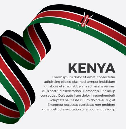 Kenya flag on a white background