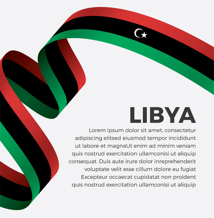 Libya flag vector illustration on a white background