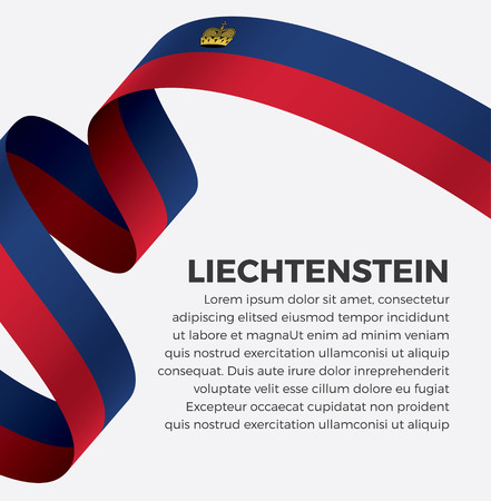 Liechtenstein flag vector illustration