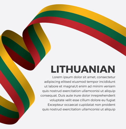 Lithuanian flag, vector illustration on a white background Banque d'images - 112799367