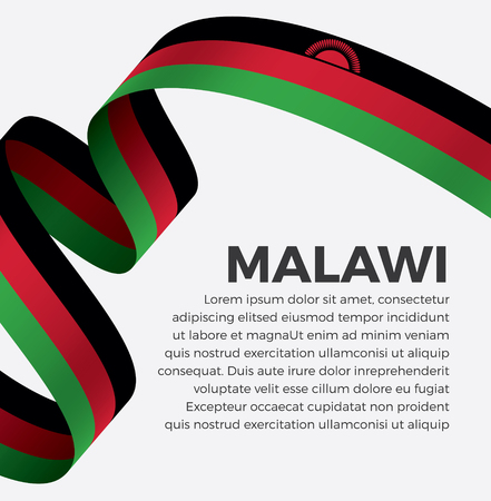 Malawi flag, vector illustration on a white background