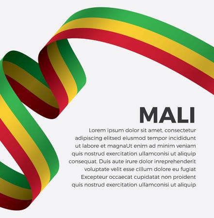Mali flag vector illustration Banque d'images - 112799371