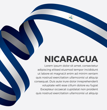 Nicaragua flag, vector illustration on a white background