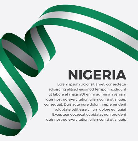 Nigeria flag, vector illustration on a white background Banque d'images - 112799375