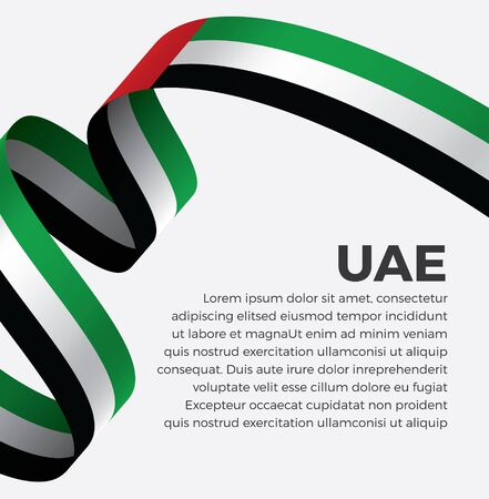 Welcome to uae symbol with flag, simple modern design on white background, illustration