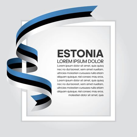 Estonia flag background, simple white background, vector illustration