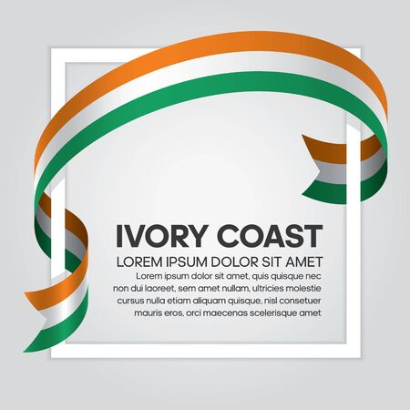 Ivory Coast flag background Vectores