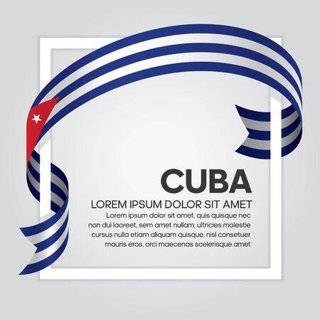 Cuba flag background Illusztráció