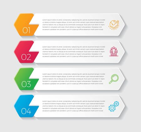 Infographic design vector and marketing icons can be used for workflow layout, diagram, annual report, web design. Business concept with 4 options, steps or processes. - Vector
