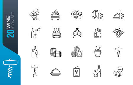Dental clinic elements - thin line web icon set. Outline icons collection. Simple vector illustration.