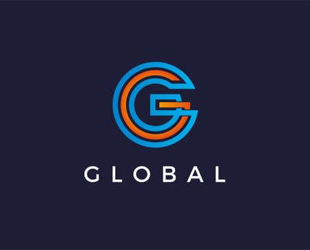 Letter G Modern Shape Logo Design Template Element Illustration