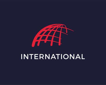 Globe logo template vector icon illustration design p