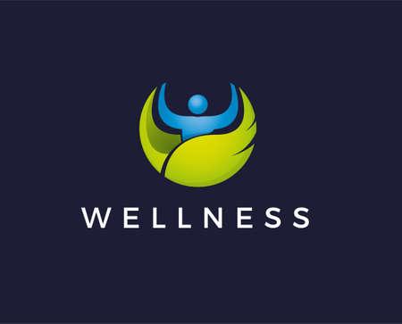 Vector logo design. Wellness and healthy
