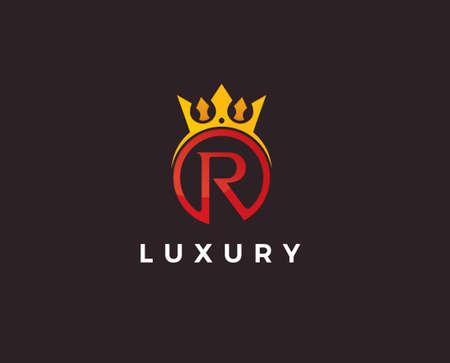 R logo initial letter design template designed based vector format