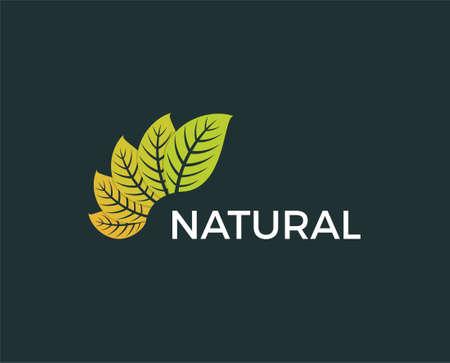 Nature Green Leaf Logo Design Template vector Illustration