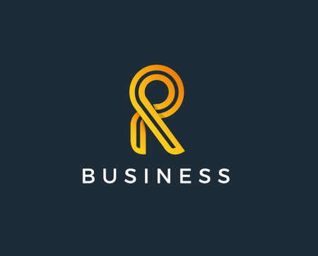 R Letter Logo Concept and Logotype