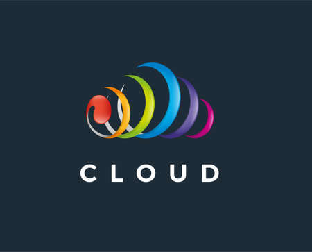 cloud up can be used for upload icons - download icons - hosting logos - website logos - sharing icons, transfer logos, storage business, with sky blue color illustration, with vector 矢量图像