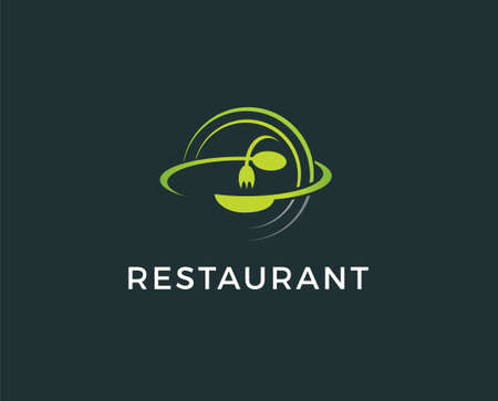 Food flat icon. Single high quality outline symbol of travel for web design or mobile app. Thin line signs of tourism for design logo, visit card, etc. Outline pictogram of restaurant Ilustrace