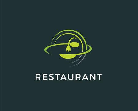 Food flat icon. Single high quality outline symbol of travel for web design or mobile app. Thin line signs of tourism for design logo, visit card, etc. Outline pictogram of restaurant Illustration