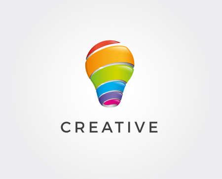 Set of Modern Tech Bulb logo designs concept, Pixel Technology Bulb Idea logo template