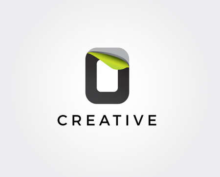 Abstract letter O logo design template. Colorful spiral creative sign. Universal vector icon.