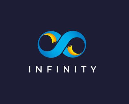 Blue Infinity Vector Logo Template Illustration Design. Vector