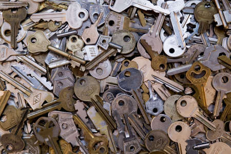 latchkey: Many keys Stock Photo