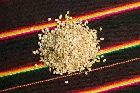 barley head: Wheat on tapestry