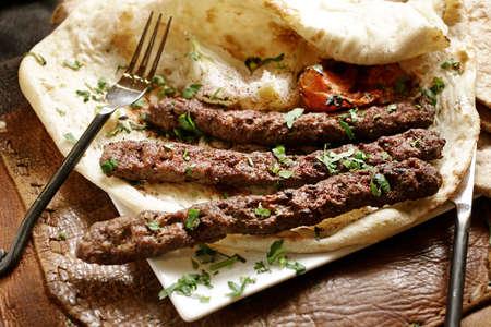 Adana or Urfa kebab regional dishes in Turkey.