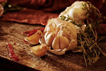 Beautifully prepared garlic