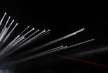 Spotlights in an empty stage 免版税图像
