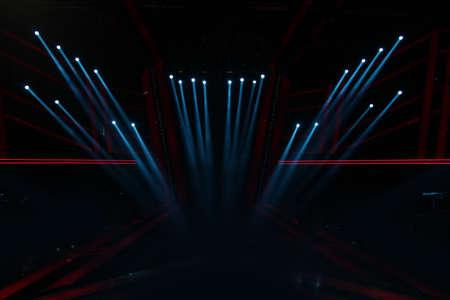 Spotlights in an empty stage Stok Fotoğraf