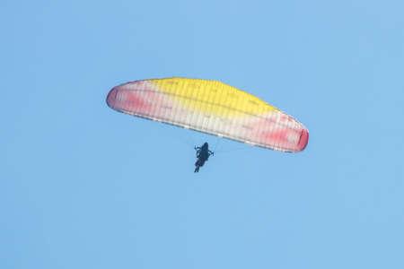 Paragliding in Olu Deniz, Fethiye, Mugla, Turkey Standard-Bild