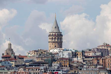 Galata Tower Turk, der höchste und älteste Turm in Istanbul Standard-Bild