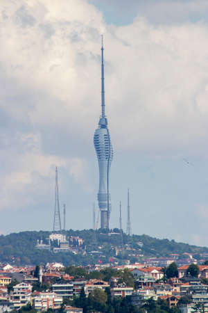 Camlica television tower, tallest structure in istanbul, turkey