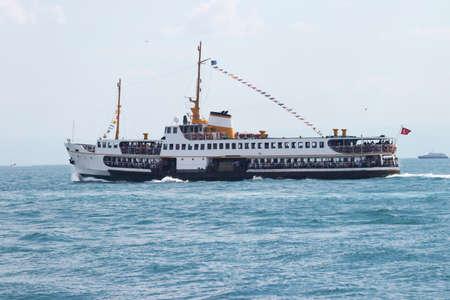 Passenger ferries operating in Bosphorus, Istanbul, Turkey