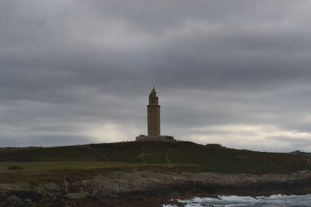 The Tower of Hercules is an ancient Roman lighthouse located in A Coruna, Galicia, Spain