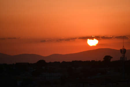 Solar eclipse in the city of Madrid, Spain, Europe Standard-Bild