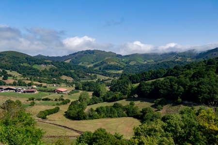 Cityscape of the Basque Village of Amaiur (Navarra, Spain)