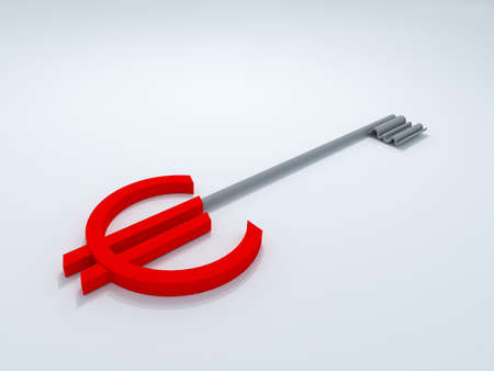 euro key 3D high quality render Stock Photo - 10143721