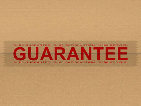 guarantee tape 3D high quality render Stock Photo - 10143725
