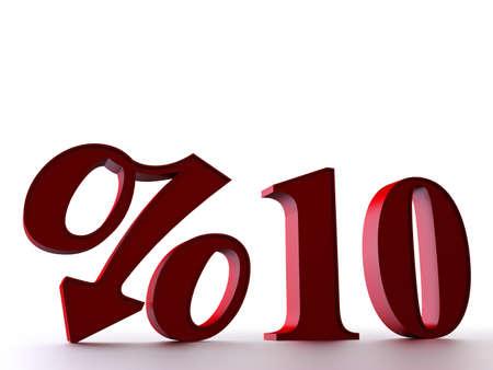10 percent Stock Photo