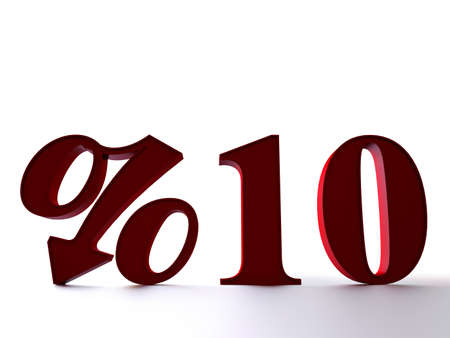 10 percent 3D render Stock Photo - 10544865