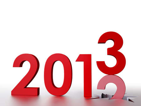 3D, Bye Old Year, Welcome 2013 Stock Photo - 16645810
