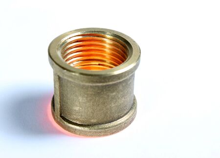 coupling: Illuminated galvanized steel coupling for plumming puposes