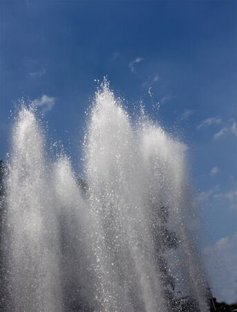 Water fountain bursting in a public park in the city  Stock Photo - 13168885