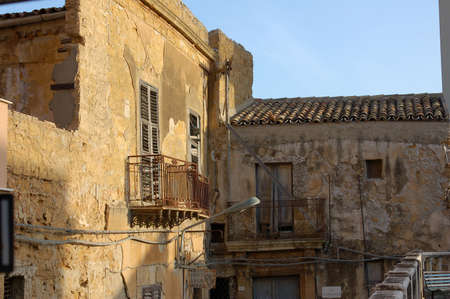 Residential balcony at agrigento Sicily photo