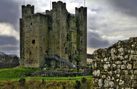Trim castle of the Abbey of St. Mary, Trim, Co. Meath. Stock Photo