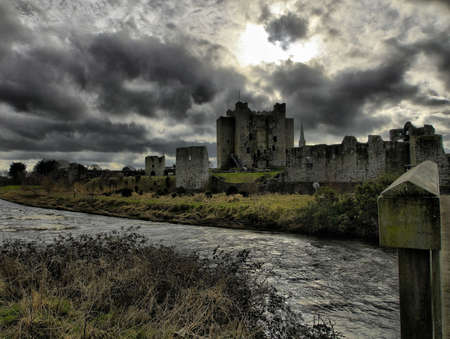 co  meath: Trim castle of the Abbey of St. Mary, Trim, Co. Meath. Stock Photo