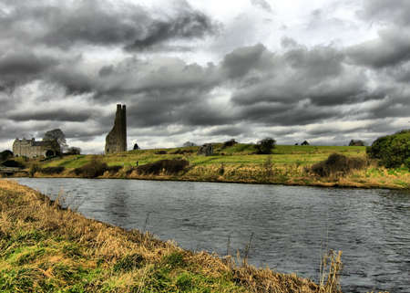 co  meath: The Yellow Tower of the Abbey of St. Mary, Trim, Co. Meath.